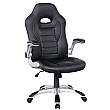 Rocaro Leather Faced Office Chair Black