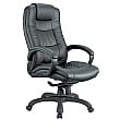 Parma Executive Leather Office Chair - Black