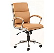 Formosa Medium Back Enviro Leather Chair Tan