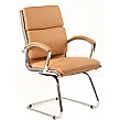 Formosa Enviro Leather Cantilever Chair Tan
