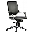 Profi Leather Faced Medium Back Office Chair Black