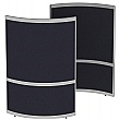 Elite Huddle Pod Curved Screen With Two Fabric Pan