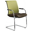 Omega Leather & Mesh Cantilever Conference Chair