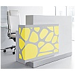 Minerals Compact Reception Desk Yellow