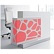 Minerals Compact Reception Desk Red