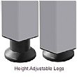 BN Easy Space Height Adjustable Semi Circular Desk Extension - Square Legs