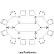 BN CX 3200 Conference Table Arrangement 8 To Seat 12 People