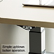 BN SQart Workstation C Leg Double Wave Desks With Electrical Height Adjustment