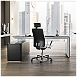 BN eRange Rectangular Managerial Desks With 2000mm Left Side Board