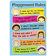 Children's Faces Playground Rules School Sign