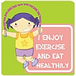 Positive Affirmation Exercise And Eat Healthily School Sign
