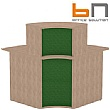 BN Velum Modular Reception - High Upholstered Internal Corner
