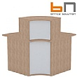 BN Velum Modular Reception - High Wooden Internal Corner Unit