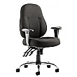 Tornado Black Fabric Task Chair