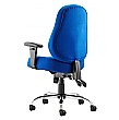 Tornado Blue Fabric Task Chair
