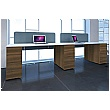 Gresham Script Rectangular Double Pedestal Desks