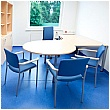 BN Easy Space Height Adjustable Round Leg 3/4 Circle Linking Desks