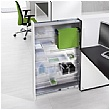 BN SQart Workstation O Leg Rectangular Desk With High Organiser Tower