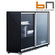 BN Primo Space Veneered Sliding Glass Door Cabinets