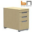 BN Primo Space Veneer Desk High Pedestals