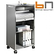 BN Primo Space Veneer Mobile Tambour Storage Caddies