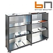 BN Primo Space Glass Back Bookcases