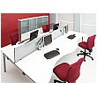 Gresham Bench² Angled Leg Sliding Top Back To Back Double Wave Starter Desks