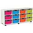12 Deep Tray White Range Storage Unit