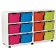 12 Extra Deep Tray White Range Storage Unit