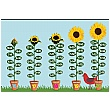 Sunflower Number Bonds 16 - 20 Sign