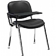 Swift Vinyl Conference Chair Chrome Frame with Plastic Writing Tablet (Pack of 4 Chairs)