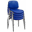 Swift Vinyl Conference Chair Chrome Frame (Pack of 4 Chairs)