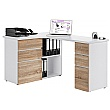Radcliff Corner Computer Desk Oak/White