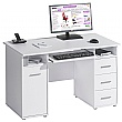 Hampstead Computer Desk White