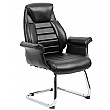 Jersey Executive Leather Faced Office Visitor Armchairs