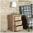 Cavalli Solid Oak 3 Drawer Lamp Table