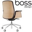 Boss Design Mea Mid Back Task Chair With Veneer Shell