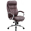 Siena Leather Executive Office Chair Brown