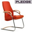 Zante Medium Back Visitor Chair with Wooden Arms