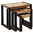 Accrington Reclaimed Wood Nest of Tables