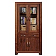Fernhurst Solid Walnut Large Glazed Bookcase