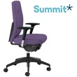 Summit Horizon Fabric Task Chair With Black Outer
