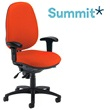 Summit Ergonomic Task 24 Hour Rounded Back Operator Chair