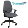 Summit Mono Black Upholstered Back Task Chair