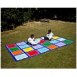 Rainbow Rectangle Placement Outdoor Play Mat