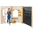 PlayScapes Role Play Maple Panel Shop Set