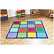 Rainbow Square Placement Carpet