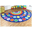 Rainbow Semi Circle 24 Placement Carpet