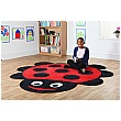 Back To Nature Ladybird Shaped Carpet