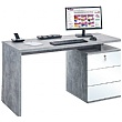 Vesta Concrete Grey Laptop Desk